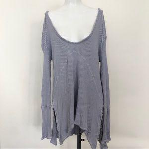 Free People Purple thermal Long Sleeve dress L853